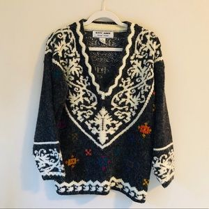 Vintage Kitty Hawk by Vivian Wang Sweater M